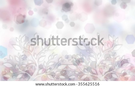 glitter bokeh lights background with tree branch illustration. light rainbow color. defocused. - stock photo