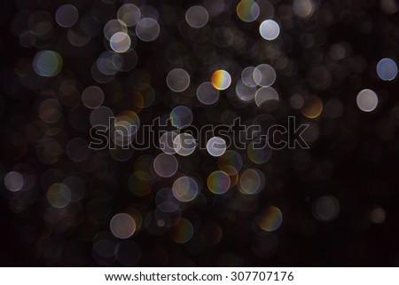 glitter bokeh lights bokeh defocused background - stock photo