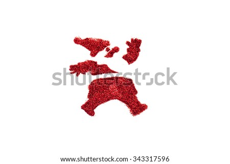 Glitter Christmas decoration - stock photo