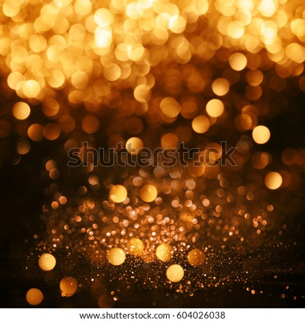 Glitter Lights Grunge Background, Glitter Defocused Abstract Twinkly Lights  And Glitter Stars Christmas Light Background
