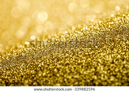 glitter sparkles dust on background, shallow DOF - stock photo