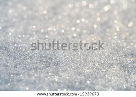 glitter sparkles dust on background , super macro shot, shallow DOF - stock photo