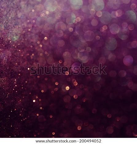 glitter vintage lights background. blue and purple. defocused - stock photo