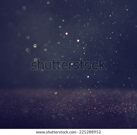 glitter vintage lights background. light silver and black. defocused.  - stock photo