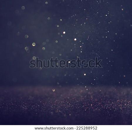 glitter vintage lights background. silver and black. defocused.  - stock photo