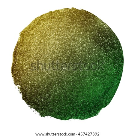 Glitter vintage lights circle background