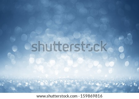 Glittering blue background - stock photo