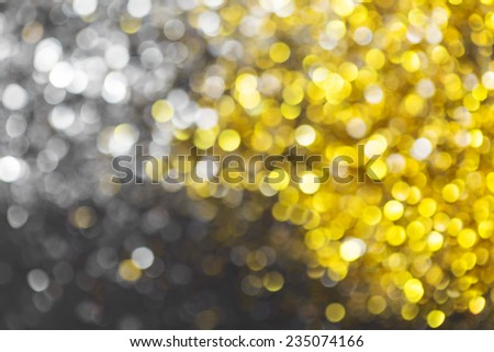 glittering christmas lights. Blurred abstract background - stock photo