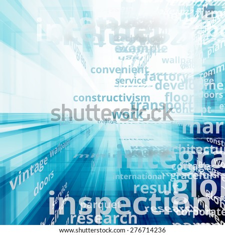 Global analyzing. Text illustration concept - stock photo