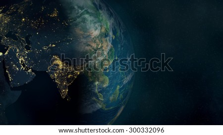 Global Background (Elements of this image furnished by NASA) - stock photo