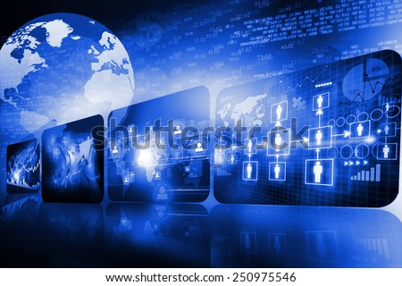 Global business background 	 - stock photo