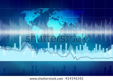 Global business chart. - stock photo