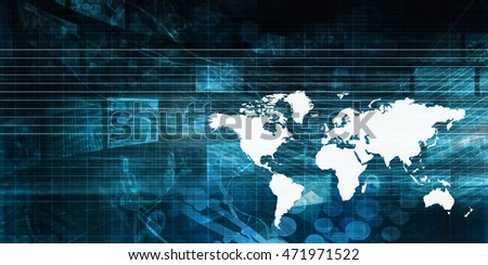 Global Business Concept as a Presentation Background Art