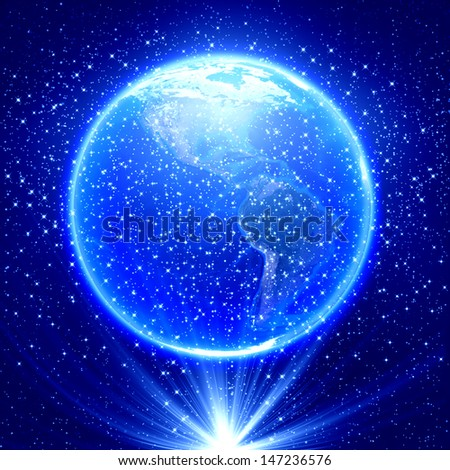 Global business concept , Earth globe image provided by NASA  - stock photo