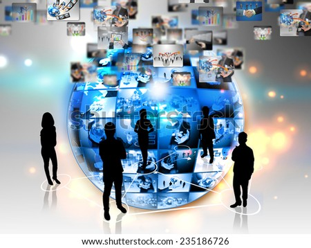global business connection  - stock photo
