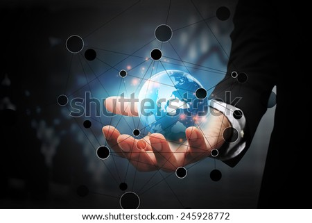 Global business connection. - stock photo