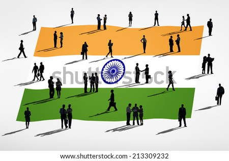 Global Business : India - stock photo