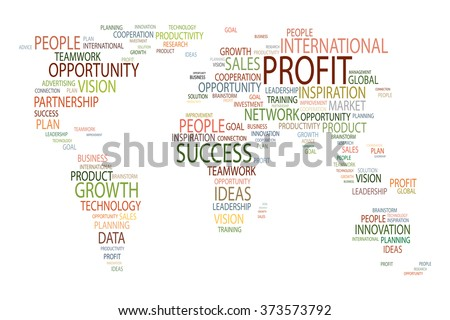 Global business map. Close-up image of world map at the white background - stock photo