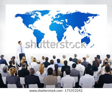 Global Business Presentation - stock photo