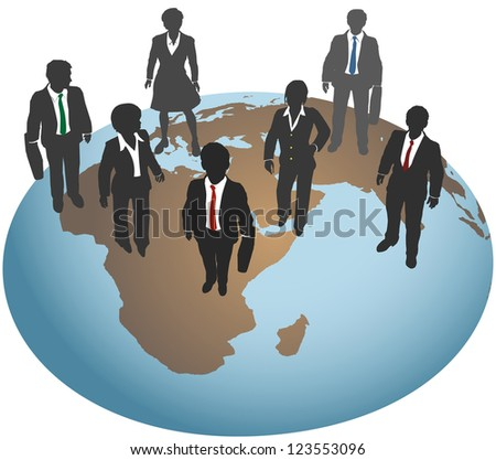 Global business team for international marketing and other work - stock photo