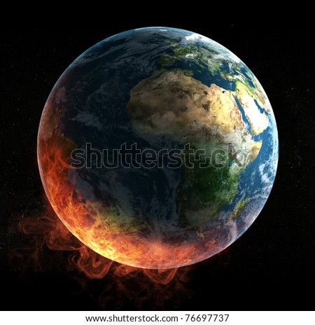 Global catasrtophe concept illustration - stock photo