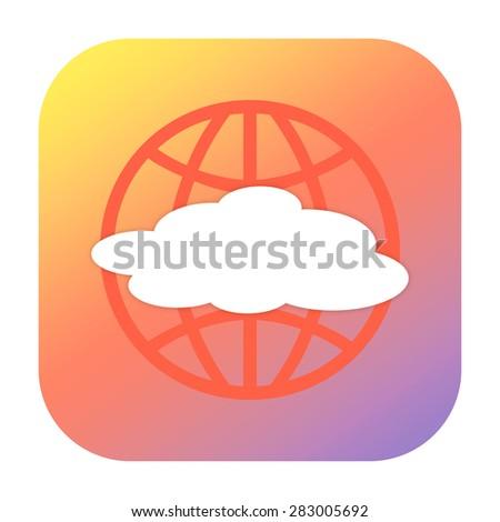 Global cloud icon - stock photo
