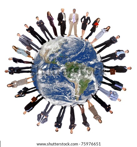 Global communication concept - stock photo