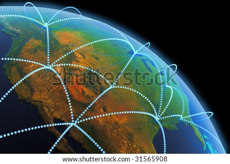 Global communication concept. Hi-res digitally generated image. - stock photo