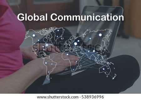 Global communication concept illustrated by a picture on background