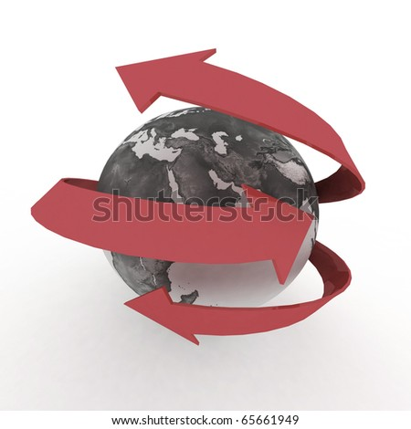 Global communication in the world - stock photo