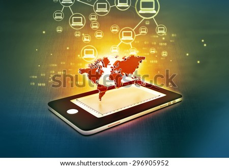 Global communication network of Smart phone