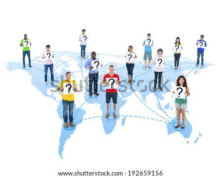 Global Communications - stock photo