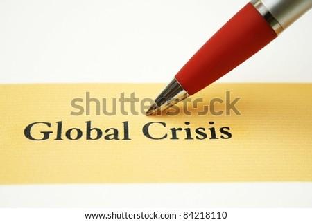 Global crisis - stock photo