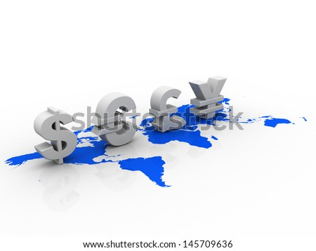 Global Currencies - stock photo