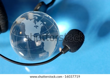global customer services - stock photo