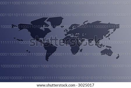 Global Data Streaming - stock photo