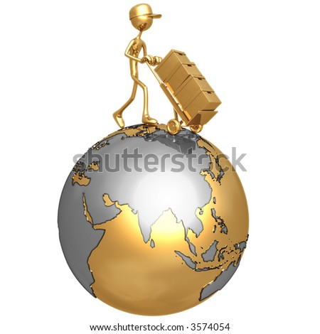Global Delivery - stock photo