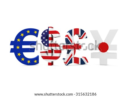 Global Economy Currencies - stock photo