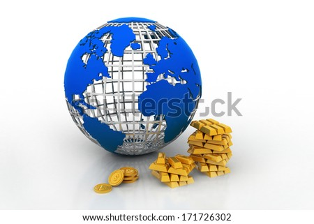 Global finance industry concept