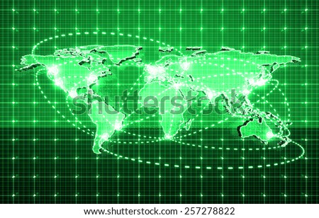global future technology, electric telecom background - stock photo