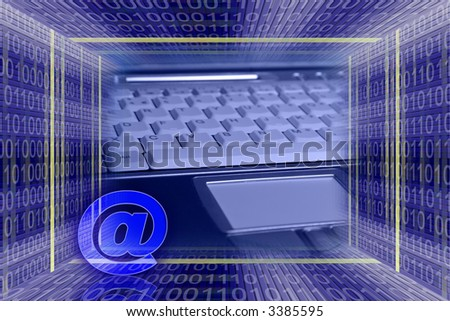 Global Information technology. E-mail concept - stock photo