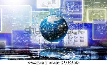 Global innovation engineering connection technology.Creation - stock photo