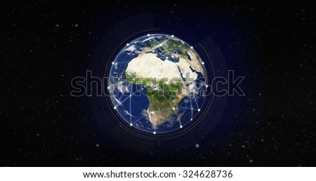 Global Internet Network Business Concept. Elements of this image furnished by NASA.