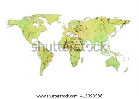 global map natural marble stone isolated on white background elements of this image furnished