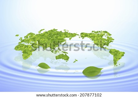 Global Map Of Leaf And Water Surface