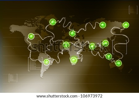 global network - stock photo