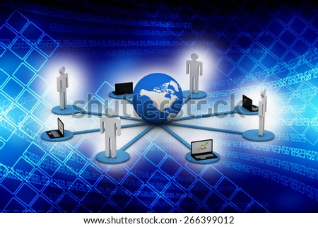 Global network concept - stock photo