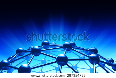 Global network connection and communication concept, business and technology background - stock photo