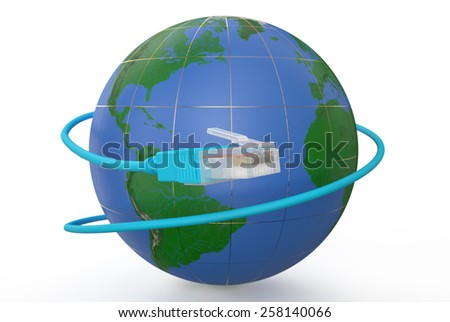 global network connection concept isolated on white background