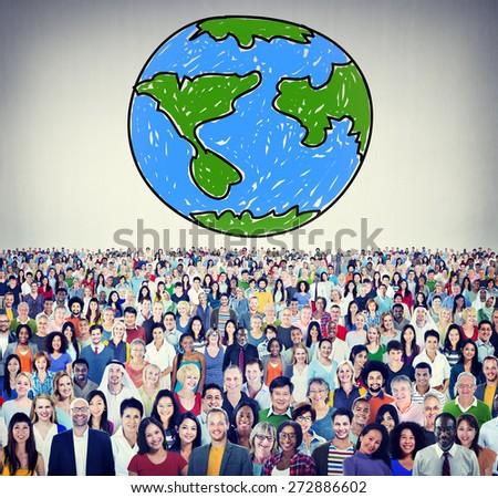 Global Networking Communication Economy Worldwide Concept - stock photo